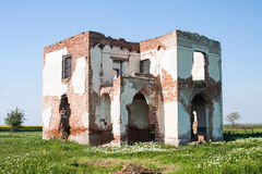 Ruined house walls Royalty Free Stock Images