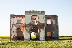 Ruined house walls Stock Photography