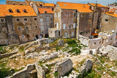 Ruined Houses in Dubrovnik Stock Photography