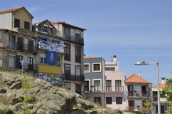 Ruined houses in Porto Stock Images