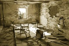 Ruined interior Stock Image