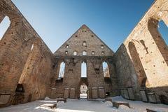 Ruined interior of St. Brigitta convent in Pirita Stock Photography