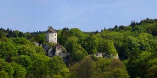 Ruined Kazimierz castle at Ojcow. Royalty Free Stock Images