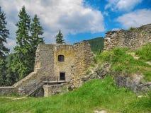 Ruined Likava Castle. Located in Liptov Region, Slovakia royalty free stock photography