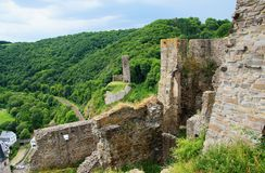Ruined lions castle and philipps castle on the Monreal Stock Images