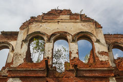 Ruined manor house in Gostilitsy Royalty Free Stock Photos