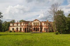 Ruined manor house in Gostilitsy Royalty Free Stock Image