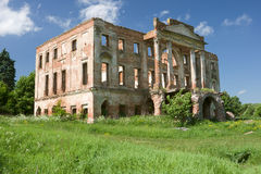 Ruined mansion house Royalty Free Stock Images