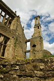 Ruined mansion house. The remains of an Elizabethan mansion stock image