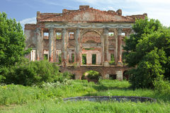 Ruined mansion house Royalty Free Stock Photo