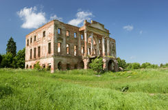 Ruined mansion house Stock Photos