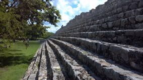 Ruined Mayan building royalty free stock photography