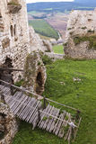 Ruined medieval castle Royalty Free Stock Photography