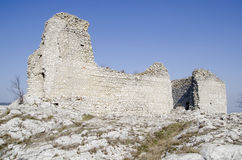 Ruined medieval castle Royalty Free Stock Photos
