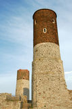 Ruined medieval castle with tower in Checiny Royalty Free Stock Photography