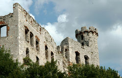 Ruined medieval castle with tower in Ogrodzieniec Stock Photography