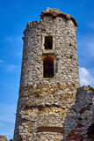 Ruined medieval castle with tower in Ogrodzieniec Stock Images