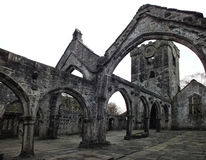 Ruined medieval church Royalty Free Stock Photography