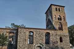Ruined  medieval stone church Royalty Free Stock Photography
