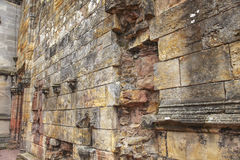 Ruined medieval wall in Scotland Stock Photo