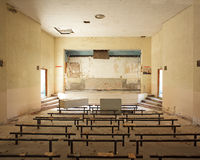 Ruined military conference room near paris Stock Image