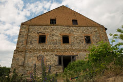 Ruined mill. Of 19 centure in village Buki, Ukraine Royalty Free Stock Photography