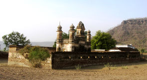Ruined minaret of old castle of Pathrigarh, Satna, MP, India Stock Photos