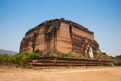 Ruined Mingun pagoda in Mandalay, Myanmar. Ruined Mingun pagoda Unfinished pagoda in Mingun paya Temple, Mandalay, Myanmar Royalty Free Stock Photo