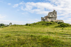 Ruined Mirow Castle in Poland. royalty free stock images