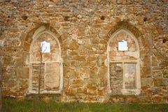 Ruined Monastery Windows Stock Image