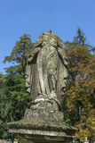 Ruined monument. Mother of God without head on the Tomb in Rakowicki cemetary in Krakow Royalty Free Stock Images