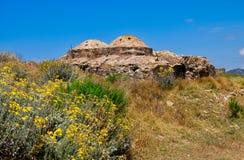 Ruined Mosque, Methoni castle, Greece stock image