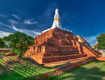 Ruined old Buddhist pagoda Royalty Free Stock Images