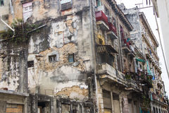 Ruined / Old buildings Havana, Cuba. Streets of CUBA Stock Image
