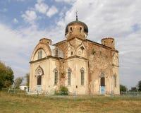 Ruined old church. Lugansk region. Stock Image