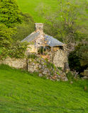 Ruined old farmhouse in Wales stock photography