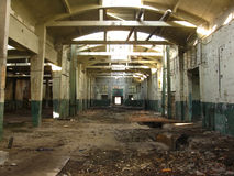 Ruined old production hall Royalty Free Stock Image