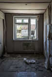 Ruined old room in the abandoned soviet building Royalty Free Stock Image