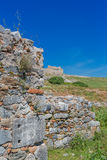 Ruined old stone wall Royalty Free Stock Photo