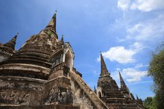 Ruined Old Temple Ayutthaya, Thailand, Stock Photos
