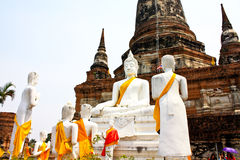 Ruined Old Temple of Ayutthaya, Thailand, Stock Photos
