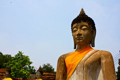 Ruined Old Temple of Ayutthaya, Thailand, Royalty Free Stock Photography