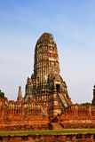 Ruined Old Temple of Ayutthaya, Thailand, Royalty Free Stock Image