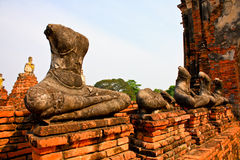 Ruined Old Temple of Ayutthaya, Thailand, Stock Image