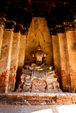 Ruined Old Temple of Ayutthaya, Thailand, Stock Photography