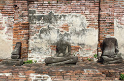 Ruined Old Temple of Ayutthaya Stock Images
