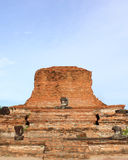 Ruined Old Temple of Ayutthaya Stock Photo