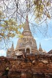 Ruined Old Temple, Ayutthaya, Thailand, Stock Photography