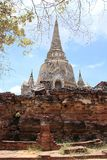 Ruined Old Temple, Ayutthaya, Thailand, Stock Photos