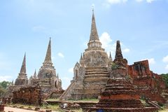 Ruined Old Temple, Ayutthaya, Thailand, Stock Images